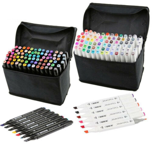 UK Sets Oil marker Pen 30//40//60//80 Colors Dual Headed Artist Sketch Funny Hot