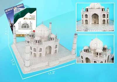 Detailed Architectural Model Taj Mahal 7 inches tall and Book
