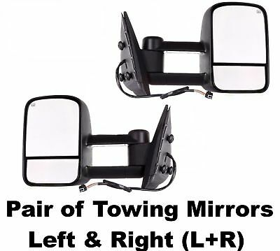 New Towing Mirror Driver Left Side Yukon Full Size Truck Chevy Textured Black LH