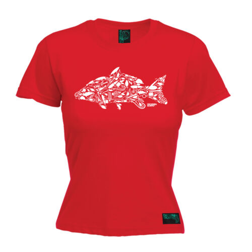 Carp Fishing WOMENS T-SHIRT Tee Fish Worms Boat Angling Fly Funny birthday gift