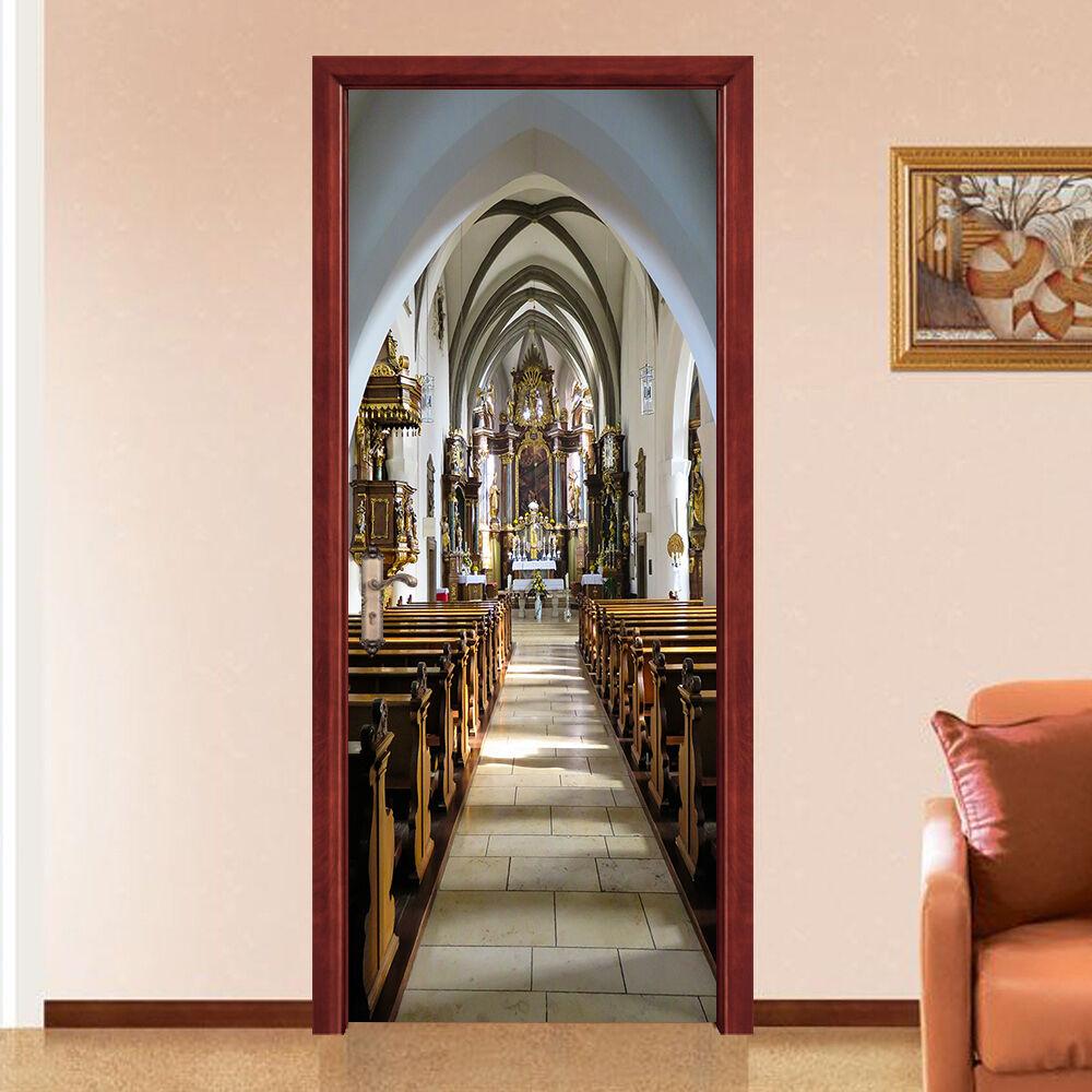 3D Die Kirche 93 Tür Tür Tür Wandmalerei Wandaufkleber Aufkleber AJ WALLPAPER DE Kyra | Mama kaufte ein bequemes, Baby ist glücklich  | Tadellos  |  d5c125