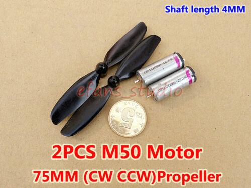 2PCS Micro M50 Motor DC 3V~6V 37000RPM High Speed Mini Fan Motor With Propeller