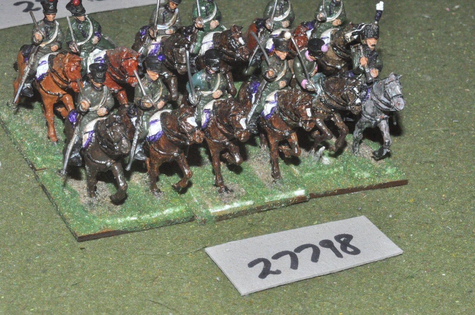 25mm napoleonic   french - light (plastic) 12 figures - cav (27798)