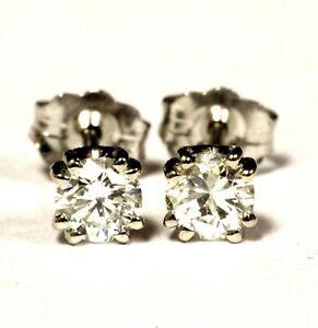 14k-white-gold-41ct-VS2-J-Double-U-prong-round-diamond-stud-earrings-estate