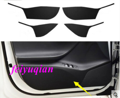 Carbon Fiber inner door Anti Kick Pad cover sticker For Tesla Model S 2014-2018