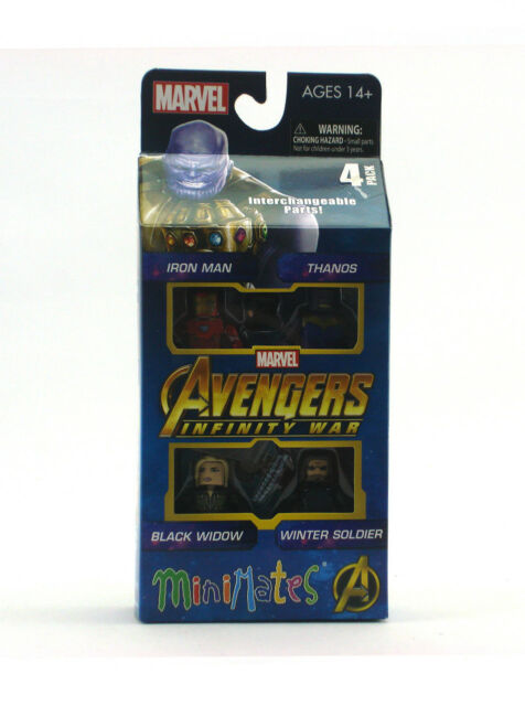 Marvel Minimates Avengers Infinity War Box Set Iron Man Thanos Black Widow New
