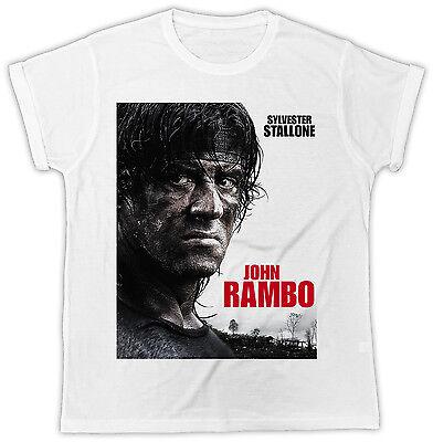 2019 Nuovo Stile Sylvester Stallone John Rambo Poster Ideale Regalo T-shirt Cool Divertente Unisex-mostra Il Titolo Originale Grande Assortimento
