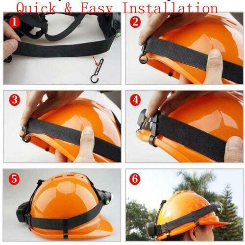 10 Pcs Headlamp Helmet Clips Plastic Hard Safe Fixing Hat Cap Light Hooks Black