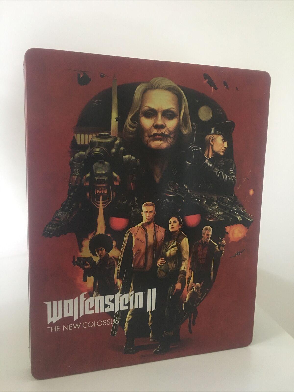 Wolfenstein 2: New Colossus Steelbook Only NEW