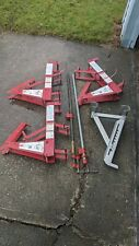 Qual Craft Steel Pump Jack Systems 500 Lb Capacity Lot Of 3 Amp Parts In Ct