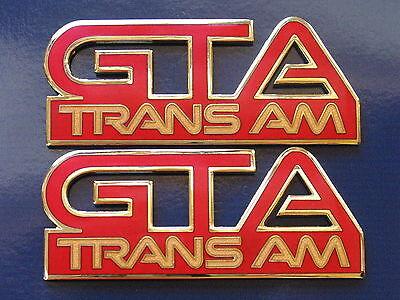 87-92 Pontiac Firebird Trans Am GTA Fender Badge Pair 11 colors