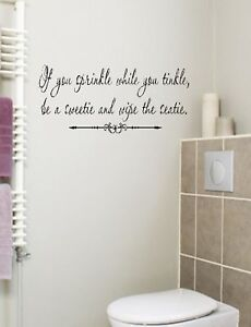 If you sprinkle Bathroom Wall Decal Words Lettering | eBay