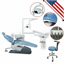 Dental Unit Chair Hard Leather Computer Controlled Fda Ce Approved Sky Blue Sa