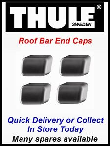 GENUINE-THULE-END-CAPS-X-4-FITS-ROOF-BARS-RACK-760-761-762-763-769-BLACK-BARS