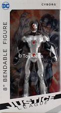 NJ Croce DC The New 52 Cyborg 8'' Bendable Figure Justice League USA Seller