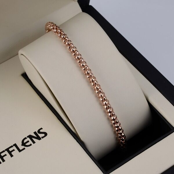 "Men/Women Bracelet 18K Rose Gold Filled 8.2""Chain 4mm Link GF Jewelry Gift"
