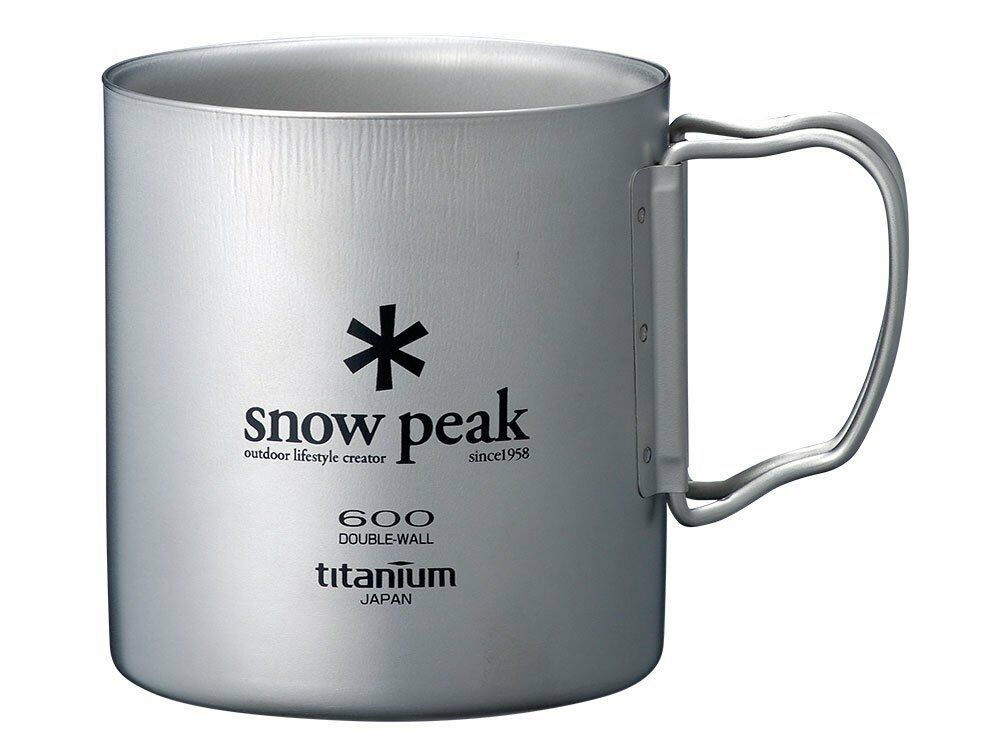 Snow Titanium Peak Titanium Snow Double Wall Cup 600 with Folding Handle MG-054R b397a5