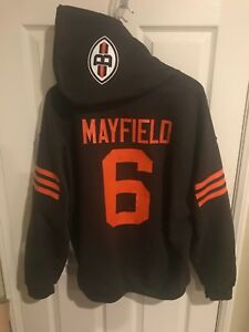 san francisco 06674 82114 Details about Cleveland Browns Baker Mayfield Jersey Style Hoodie Hoody  Hooded Sweatshirt