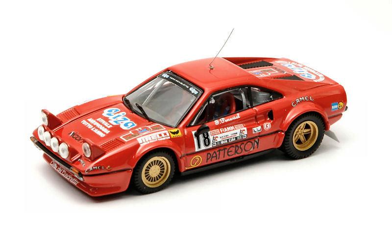 Ferrari 308 Gtb  18 Retirosso Elba 1978 R. Liviero / F. Penariol 1:43 Model