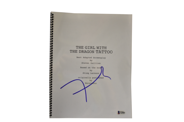 David Fincher Signed The Girl With The Dragon Tattoo Autograph Beckett Coa Ebay