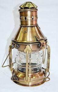 Antique-Brass-Ship-Oil-Lantern-Lamp-For-Home-Decor-Collectible-Decorative-15-034