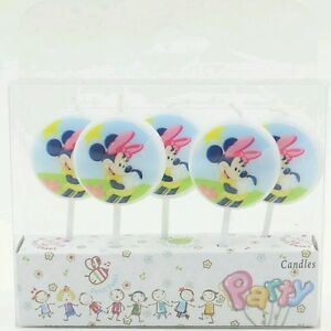 5pcs Minnie Mouse Cake Candles Kids Birthday Party Supplies Ebay
