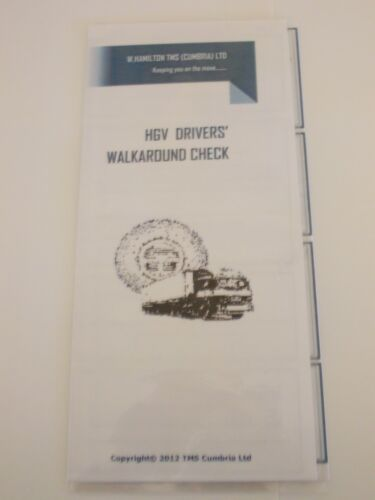WHWACHGV Tachograph product HGV Drivers Walkaround Check Tri-fold Laminate