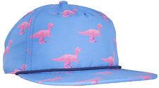 CRSHR Dinosaur Raptor Novelty Party Rave Fun Summer Spring Break Hat Blue/Pink