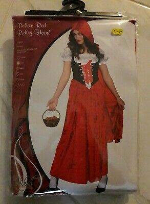 Deluxe Red Riding Hood Fancy Dress Costume Brand New Medium Packet High Quality QualitäTswaren
