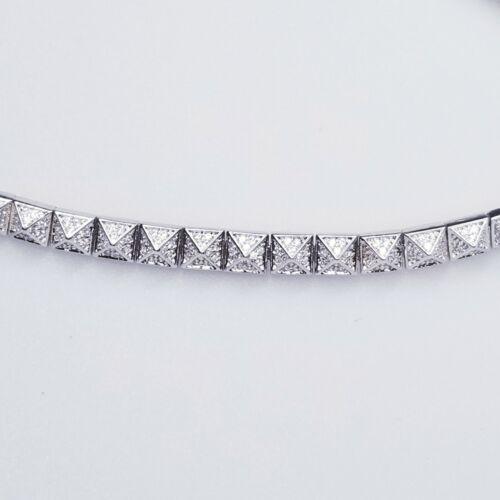 nOir Jewelry Silvertone & Pave Pyramid Choker Pyra