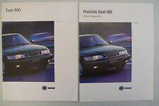 Prospekt Saab 900 S / SE  Modelle 1994, 1993, 36 Seiten + Preisliste 9.1993