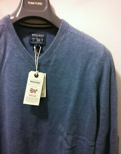 Woolrich Chic soft cotton Vneck Sweater  M/50/40 NWT$225