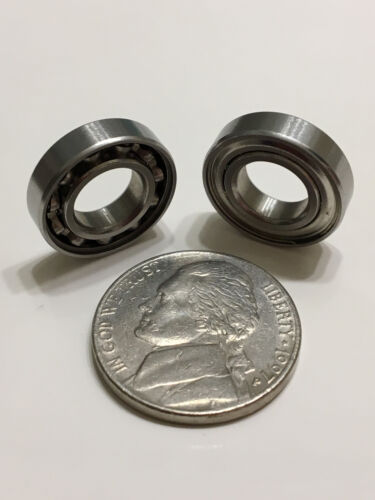 Set of 5 New Ceramic Ball Bearings 16mm OD X 8mm ID X 4mm wide
