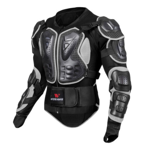 Men Motorcycle Body Armor Jacket Motocross Racing Spine Chest Protecto Coat