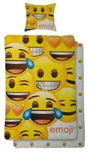 Emoji-Renforce-Wende-Bettwaesche-Set-2-teilig-135-x-200-cm-100-Baumwolle