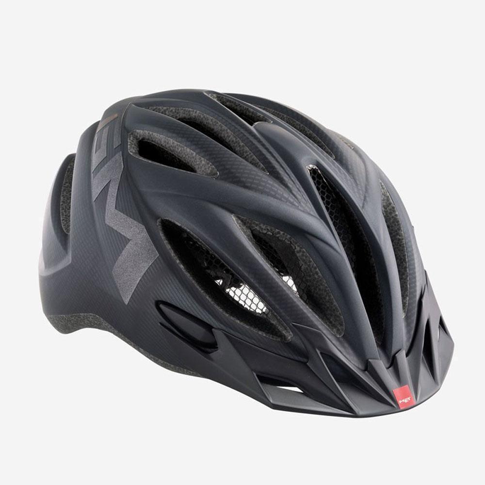 Rennrad Fahrrad Helm MET 20 Meilen schwarz