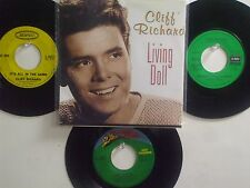 LOT OF 4 ' CLIFF RICHARD ' HIT 45's+1P(Copy)[Living Doll]      THE 50's-70's!