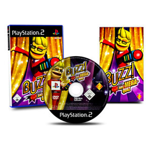 Playstation-2-PS2-Jeu-Buzzer-Le-Mega-Quiz-sans-en-emballage-original-et-Manuel