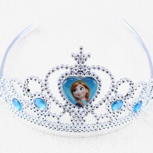 Kinder Anna Elsa Diadem Strass Krone Zauberstab Handschuhe Party Cosplay Kostüm