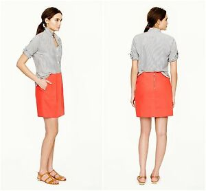 d0d75cc3cd NWT J.Crew Pencil Mini Skirt Bohemian Red Side Pockets Exposed ...