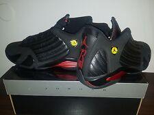 Nike Air Jordan 14 Retro XIV Black Varsity Red Size13 311832-010L@@K!!!!!!!!