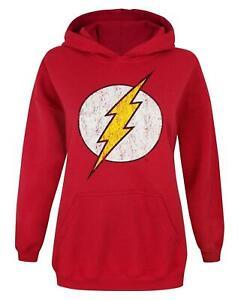 Flash-Distressed-Logo-Women-039-s-Hoodie