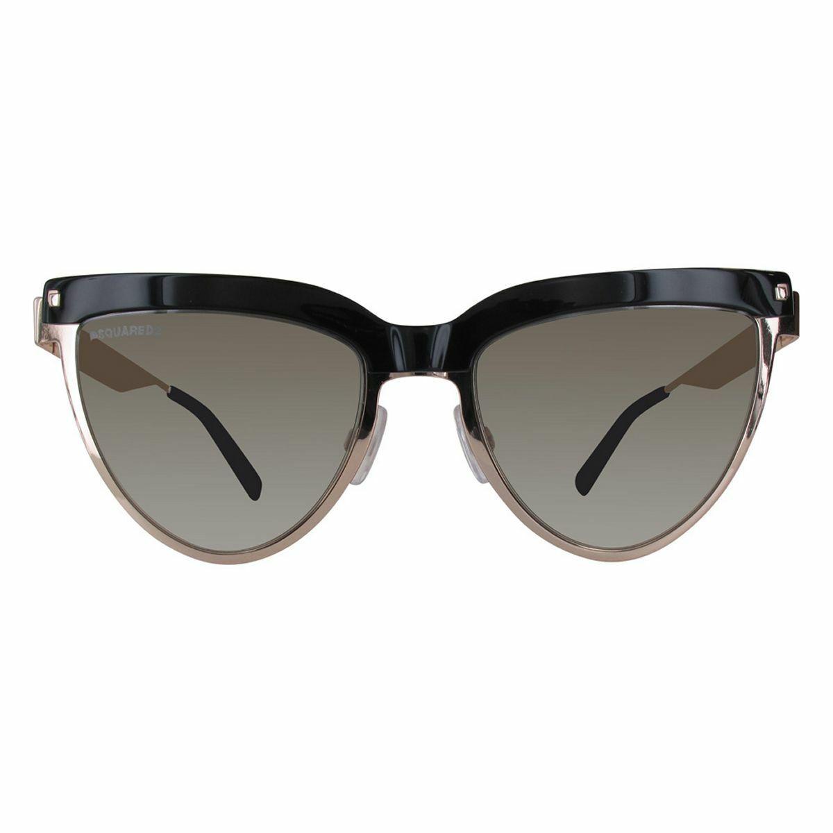 Dsquared2 Women's Sunglasses DQ0302-28B-53 Shiny Rose Gold/Gradient Smoke