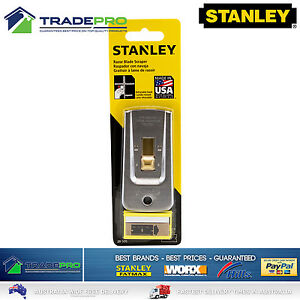 Stanley Razor Blade Scraper 5pc Blade Kit USA Paint Glue Adhesive Putty Window