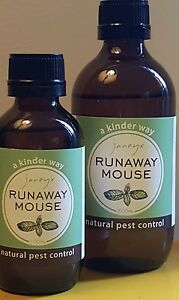 runaway mouse - natural pest control 4 mice 100% peppermint essential oil 100ml