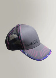 Muddy Girl Camo Pink Purple /& Black Hat Mesh Back Basetball Cap Women/'s