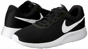 sports shoes 27f99 221ad Image is loading Nike-Tanjun-Running-Shoes-Black-White-812654-011-