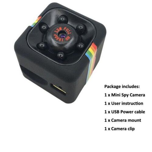 1080P Mini Hidden Spy Car Camera Dash DV DVR Cam SQ11 Full HD IR Night Vision