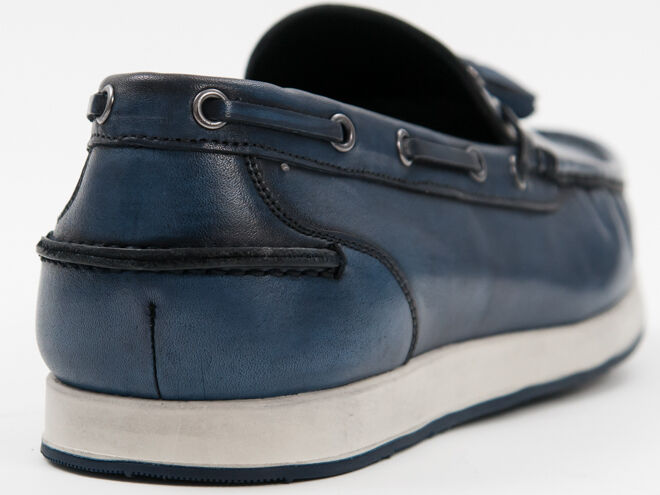 New Roberto Serpentini bluee boat boat boat with tassels  Leather shoes Size 44 US 11 985065