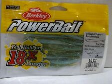 "BERKLEY POWERBAIT Minnow - 4/"" 10 ct Chartreuse Shad"